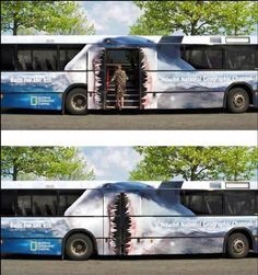 Offline location marketing that eats you alive! Campaign for National Geographic's Built For The Kill.