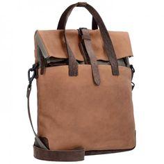 Harold's Aktentasche 'Twister' in chamois / kastanienbraun Laptop, Material, Design, Products, Fashion, Auburn, Handbags, Get Tan, Nature