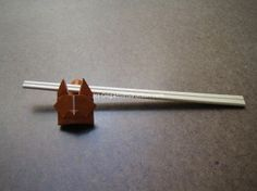 Origami Cat Chopstick Rest, very cute with folding instructions