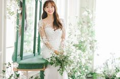 Wedding Couples, Wedding Photos, Korean Wedding, Floral Backdrop, Wedding Company, Day For Night, Saturated Color, Asian Fashion, Wedding Gowns