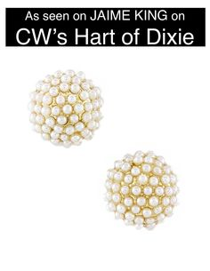Pearl Cluster Earrings as seen on Jaime King in Hart of Dixie - My Jewel Candy