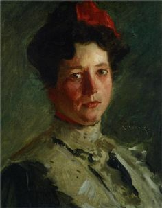 Portrait of Martha Walter, 1908  William Merritt Chase