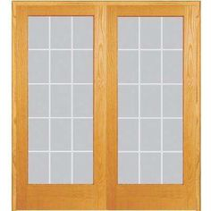 Classic Clear V Groove Unfinished Pine Wood Double Prehung Interior French  Door