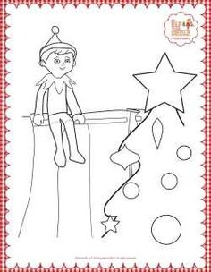 elf on the shelf coloring page  christmas coloring pages