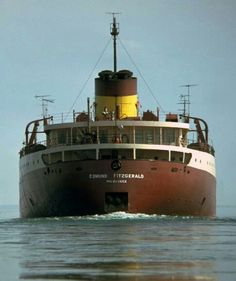 On November 10, 1975 the iron ore carrier, SS Edmund Fitzgerald sank in Lake Superior. All 29 crew members died. At the time, it was the worst shipping disaster on the Great Lakes in 11 years. Gordon Lightfoot's song, The Wreck of the Edmund Fitzgerald is quite moving.