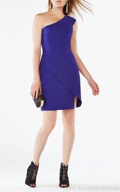 Aryanna One-shoulder Slim BCBG Cocktail Dress Short