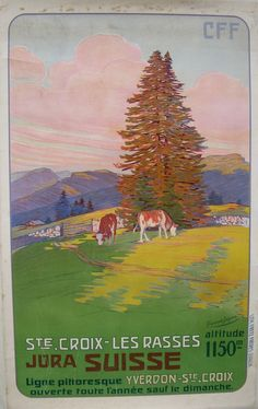 vintage Swiss poster