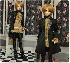 1 3 BJD 68cm 70cm BOY Doll Black Glitter Outfit Suit Super Dollfie Luts M3 128L | eBay