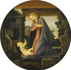 Sandro Botticelli - The Virgin Adoring the Child (National Gallery of Art, Washington, DC,) サンドロ・ボッティチェッリ Botticelli Paintings, Painting, Botticelli, National Gallery Of Art, Art, Canvas Art, Canvas Painting, Artwork Painting, Pop Art