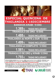 Especial  Quincena de THAILANDIA 01-16 Diciembre Thai Airways - http://zocotours.com/especial-quincena-de-thailandia-01-16-diciembre-thai-airways/