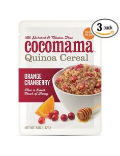 Find us on-line at Amazon. Cocomama Foods Orange Cranberry Quinoa Cereal, 5-Ounce (Pack of 3): Amazon.com: Grocery & Gourmet Food