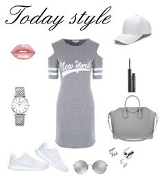 """""""lazy today outfit"""" by insomnia96 on Polyvore featuring NIKE, Givenchy, Longines, Lime Crime, Elizabeth Arden and Linda Farrow"""