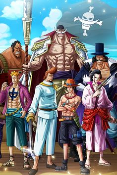 'WhiteBeard pirates - One Piece' Poster by Raed-D-Artist One Piece Équipage, Haki One Piece, Poster One Piece, One Piece Chapter, One Piece World, One Piece Drawing, One Piece Comic, One Piece Fanart, One Piece Images