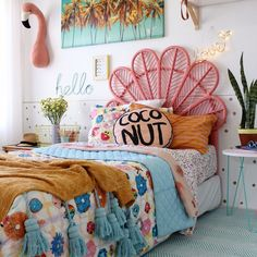 Modern Boho Girls bedroom ideas |kids bedding and decor | modern boho bedroom ideas more on the blog