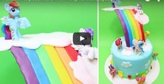 Rainbow Pony Dash Cake