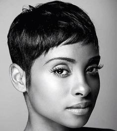 Hair Brief Black Cute Cuts 16 Finest Concepts Short Sassy Hair, Short Hair Cuts, Short Hair Styles, Natural Hair Styles, Pixie Cuts, Short Relaxed Hair, Short Pixie Haircuts, Pixie Hairstyles, Cool Hairstyles
