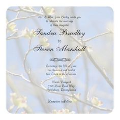 Spring Blossoms Wedding Rounded Invitations