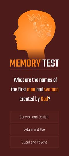 Memory Test  What are the names of the first man and woman created by God?  #memorytest