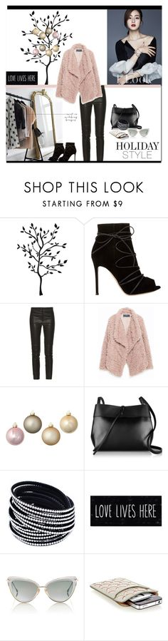 """""""Holiday Style: Leather Pants!"""" by jazzyk61 ❤ liked on Polyvore featuring Gianvito Rossi, Isabel Marant, Zara, Kristin Drohan Collection, Kara, Dita, Alaïa, women's clothing, women and female"""