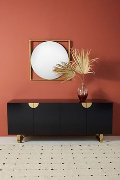 Keep your home organized with modern storage options from media consoles to credenzas from Anthropologie. Shop our unique collection for your home. Sideboard Decor, Modern Sideboard, Dining Room Sideboard, Dining Room Console, Dining Cabinet, Hanging Furniture, Furniture Making, My Living Room, Adjustable Shelving