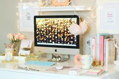 love this <3 Most beautiful desk ever. #LifeGoals