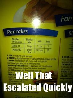 Made pancakes this morning and thought of this photo - still chuckling over it  :)