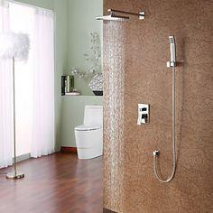 chuveiro torneira contemporâneo, com 8 polegadas + chuveiro chuveiro de mão – BRL R$ 470,22
