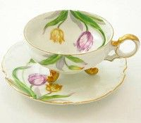 Ucagco Tulips Tea Cup and Saucer