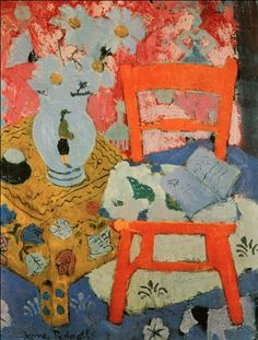 "❀ Blooming Brushwork ❀ - garden and still life flower paintings - Anne Redpath (1895-1965), ""Still Life with Orange Chair"", 1949"