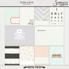 Pure Love | Journal Cards