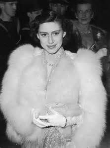 Princess Margaret, on a night out in London's West End in the early 1950s
