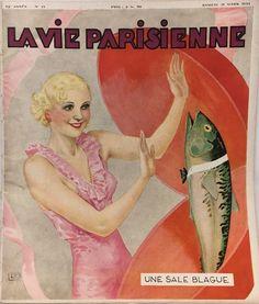 Georges Léonnec (1881 – 1940). Une Sale Blague.  La Vie Parisienne, 31 Mars 1934. [Pinned 25-x-2017]