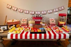 Vintage Movie Themed Birthday Party 4th Fourth Red