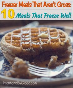 Food for Thought Fridays: Freezer Meals That Aren't Gross - a list of recipes that freeze well