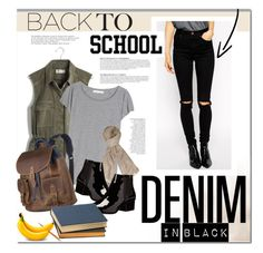"""Back to School: Denim in Black"" by stacey-lynne ❤ liked on Polyvore featuring Anja, Madewell, ASOS, Acne Studios, Dorothy Perkins, Pendleton and French Connection"