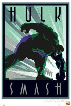 Marvel Retro - Hulk Poster sur AllPosters.fr