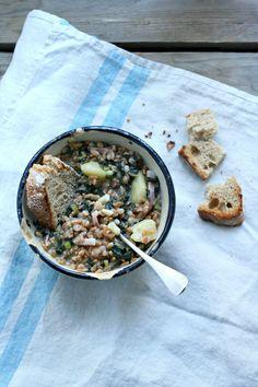 Zuppa di farro, cavolo nero e speck