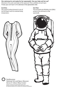 Make an astronaut paper doll! You can print the paper doll