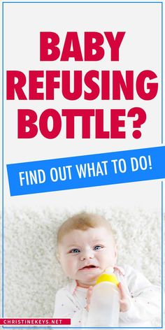 Baby Refusing Bottle: How to Conquer a Bottle-Feeding Aversion Baby Care Tips, Baby Tips, Newborn Baby Care, Baby Hacks, Mom Hacks, Bad Mom, Baby Led Weaning, Bottle Feeding, Baby Health