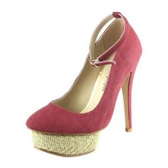 Charlotte Olympia round sole canvas pumps fuchsia [CO013] - $124.31 : Designershoes-shopping, World collection of Top Designer high heel UP TO 90% OFF!