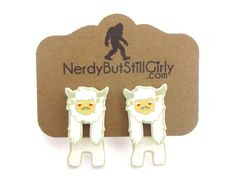 Cryptozoology (Abominable Snowman) Cling Earring Faux Gauges, Mysterious Events, Cryptozoology, How To Fall Asleep, Nerdy, Snowman, Place Card Holders, Christmas Ornaments, Holiday Decor