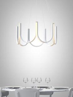 LED aluminium pendant lamp By ARPEL Lighting design Sylvain Willenz Cool Lighting, Modern Lighting, Lighting Design, Pendant Lighting, Lighting Stores, Pendant Lamps, Lighting Ideas, Luminaria Diy, Blitz Design