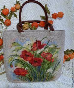 """Купить сумка """"полевые маки"""" - сумка, сумка ручной работы, сумка на каждый день"""