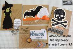 www.PattyStamps.com - September My Paper Pumpkin kit meets Halloween Banner kit