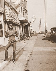 Bruce Springsteen. Great picture. Looks like he's in Ashbury Park. https://www.pinterest.com/busyqueen4u/pinterest-group-u-pin-it-here/