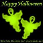 Halloween Ghosts Greeting Card 2012