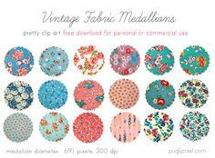 Vintage fabric printable patterns