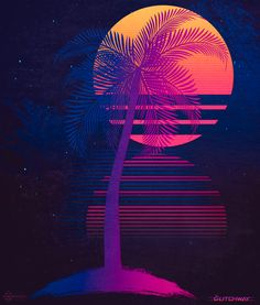 """#80s Style Photo and Digital Design #neon #retroscifi #scifiart #synthwave #retro #digitalart #neowave glitchway: """" Sunset Dreams Facebook / Instagram / Behance Prints available at: • Society6 • Colab55 (Brazil only) """""""