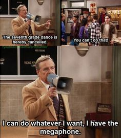 Haha!! Love this show! The best part is, this is exactly how I feel when I have a megaphone!!