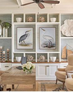 Crane and Heron Europe Birds Print Set of 2 Large Wall Decor for Living Room Vintage Illustration Art Vogel Illustration, Vintage Illustration, Bird Wall Art, Wall Art Decor, Coastal Homes, Coastal Decor, Coastal Wall Art, Casa Retro, Home Decor Shops